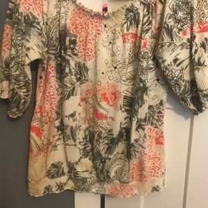 French Laundry Woman's Top Large Shirt LG Blouse